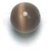 "Cat Eye Beads 8mm Round Brown Strand 16"" Fibre Optic"